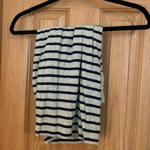 Grey and Navy striped jersey skirt